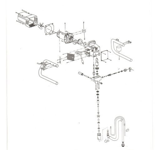 drawing for 6640i Titan model airless machine