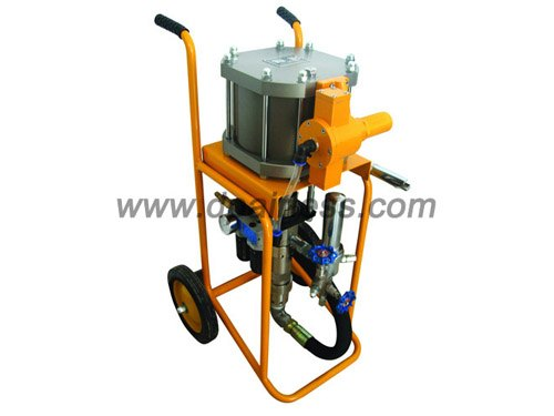 pneumatic air-compressor assisted airless spraying pump kit
