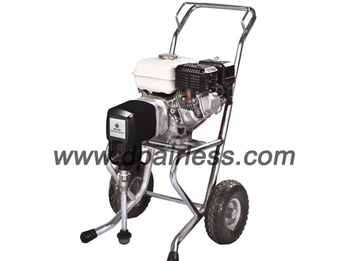 petrol engine powered airless paint sprayer machine