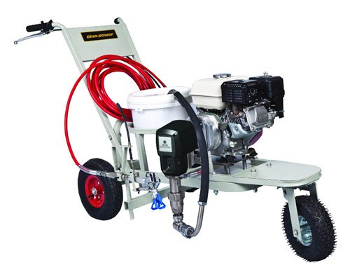 gasoline engine powered airless paint sprayer pump machine