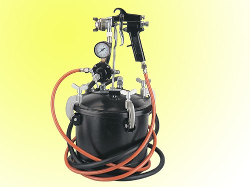 10L paint tank spray gun kit