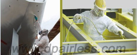 pneumatic-airless sprayer for epoxy shipyard painting