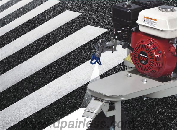 road line lazer striping machine